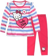 Hello Kitty T-shirt met legging fuchsia (maat 12 mnd)