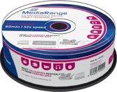 CD-R MediaRange 700MB 25pcs Spindel 52x Inkjet Printable