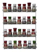 Coninx KR 3000 Kruidenrek - Ophangbaar Kruidenrek Voor 32 Kruidenpotjes - Spice Rack – Keuken Rek - Kruiden Organizer - Specerijen Opbergen - 4 Laags – 50 x 40.5x 6 cm