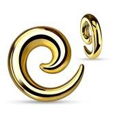 6 mm taper spiraal goud