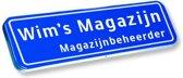 Naambordje voordeur! – Origineel straatnaambord – Naambord met eigen tekst 70 x 15 cm