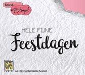 Stempel Nederlandse Tekst - Hele fijne Feestdagen