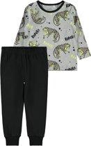 Name it Jongens Pyjama setje - zwart/grijs - Maat 98