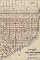 1868 Railroad Map of the City of San Francisco, California - A Poetose Notebook / Journal / Diary (50 pages/25 sheets)