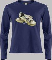 Longsleeve V Lage sneakers in wit 2 - Darknavy - V - L Sportshirt
