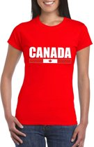 Rood Canada supporter t-shirt voor dames L