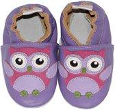 BabySteps slofjes Purple Owl small
