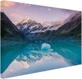 De Mount Cook van Nieuw Zeeland Canvas 30x20 cm - Foto print op Canvas schilderij (Wanddecoratie woonkamer / slaapkamer)