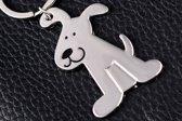 Sleutelhanger Hond Zilverkleurig