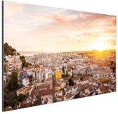 Uitzicht over Lissabon Aluminium 120x80 cm - Foto print op Aluminium (metaal wanddecoratie)