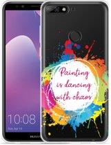 Huawei Y7 2018 Hoesje Painting