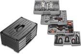 Gereedschapsset 105-delig | toolset met 4 laden |  incl. stevige opbergbox