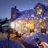 W&W Company - Kerstverlichting Projectie voor Binnen en Buiten | Kerstmis Sneeuwvlokken patroon | Waterdicht | met Afstandsbediening