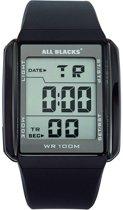 All Blacks 680034 digitaal horloge 39 mm 100 meter zwart/ grijs