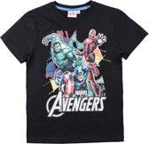 Avengers-Assemble-T-shirt-met-korte-mouw-zwart-maat-152
