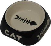 kattenvoerbakjes- zwart- 2 stuks-Animal King