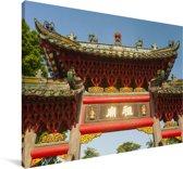 De oude tempel van Foshan in China Canvas 60x40 cm - Foto print op Canvas schilderij (Wanddecoratie woonkamer / slaapkamer)