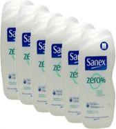 Sanex Zero Douchegel - Voordeelverpakking 6 x 650 ml