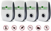 PEST AWAY Ongedierteverjager | 4 Stuks | Pest Reject | Muizen verjagen | Ongediertebestrijding | Ultrasone Insectenbestrijding