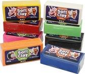 Soft Clay, afm 13x6x4 cm, kleuren assorti, 8x500 gr