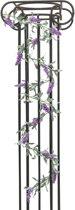 Europalms kunstplant Bloeiende guirlande - bloemen slinger - roze - 180 cm