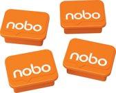 Nobo Whiteboardmagneten 4 stuks Oranje 18x22mm