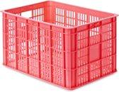Basil Crate Large - Fietskrat - 50 Liter - Fluor Coral