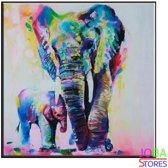 "Diamond Painting ""JobaStores®"" Olifant - volledig - 40x40cm"