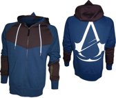 Assassins Creed Unity - Blue/Brown Hoodie With Print - L