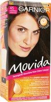 Garnier Movida Haarverf - 45 Donkerbruin - Kleurcrème Toon-op-Toon - Zonder Ammoniak - Met Voedende Abrikozen