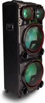 NGS WILD Punk - 750W - Bluetooth speaker, Zwart, Blauw - Rood - Draadloos - luidspreker - Draagbaar