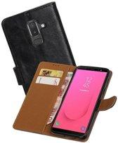 Zakelijke Bookstyle Hoesje Samsung Galaxy J8 Zwart