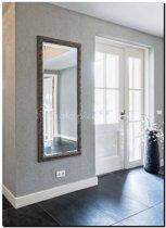 Barokke spiegel Prague  Antiekzilver medium 52mm     Buitenmaat 61x71cm
