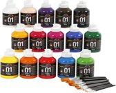A-color Acrylverf Glossy Klassenset 45-delig Multicolor