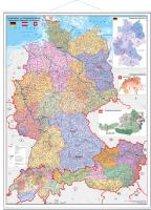 Deutschland/Österreich/Schweiz Postleitzahlen- und Organisationskarte