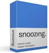 Snoozing - Katoen-satijn - Topper - Hoeslaken - Eenpersoons - 100x200 cm - Meermin