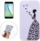 Let op type!! Voor Huawei nova 2 vlinders en meisje patroon Ultra-thin TPU zachte beschermende draagtas