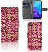 Huawei Y5 (2019) Wallet Case Barok Pink