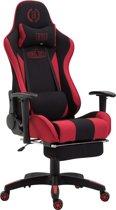 Clp Boavista  - Racing Bureaustoel - Stof - Zwart/rood Met voetsteun