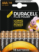 Duracell AAA Plus Power Alkaline Batterijen