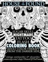The House of the Found Sugar Skull Nightmare Tattoo Flash Coloring Book