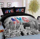 Dekbedovertrek New York City Lits-jumeaux 240x200/220 cm