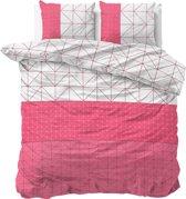 Sleeptime Gino - Dekbedovertrekset - Lits-Jumeaux - 240x200/220 + 2 kussenslopen 60x70 - Roze