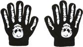 Schedel en botten handschoenen voor kinderen - Verkleedattribuut