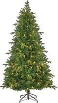 Black Box kunstkerstboom met led brampton maat in cm: 215 x 125 groen met 240 warmwitte led lampjes