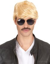 Korte blonde pruik voor heren - Verkleedpruik