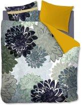 Oilily Flower Parade - Dekbedovertrek - Eenpersoons - 140x200/220 cm + 1 kussensloop 60x70 cm - Blauwgroen