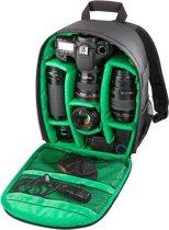 INDEPMAN DL-B013 Waterbestendige Buitensport Backpack Rugtas Camera Tablet Tas voor GoPro, SJCAM, Nikon, Canon, Xiaomi Xiaoyi YI, iPad, Apple, Samsung, Huawei, Afmetingen: 26.5 x 12.5 x 33 cm (groen)