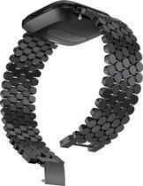 SmartphoneClip Schakel bandje - Fitbit Versa - zwart