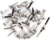 100x Splitpennen zilverkleurige in doosje - Splitpennen/hobbymaterialen